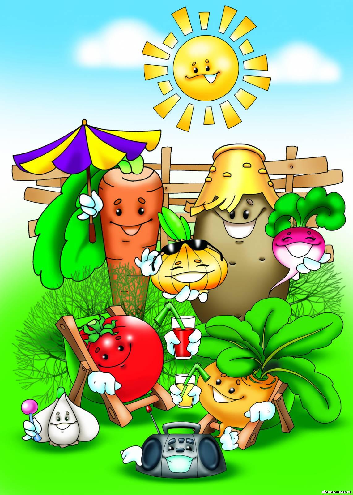 Картинка для детей сад огород