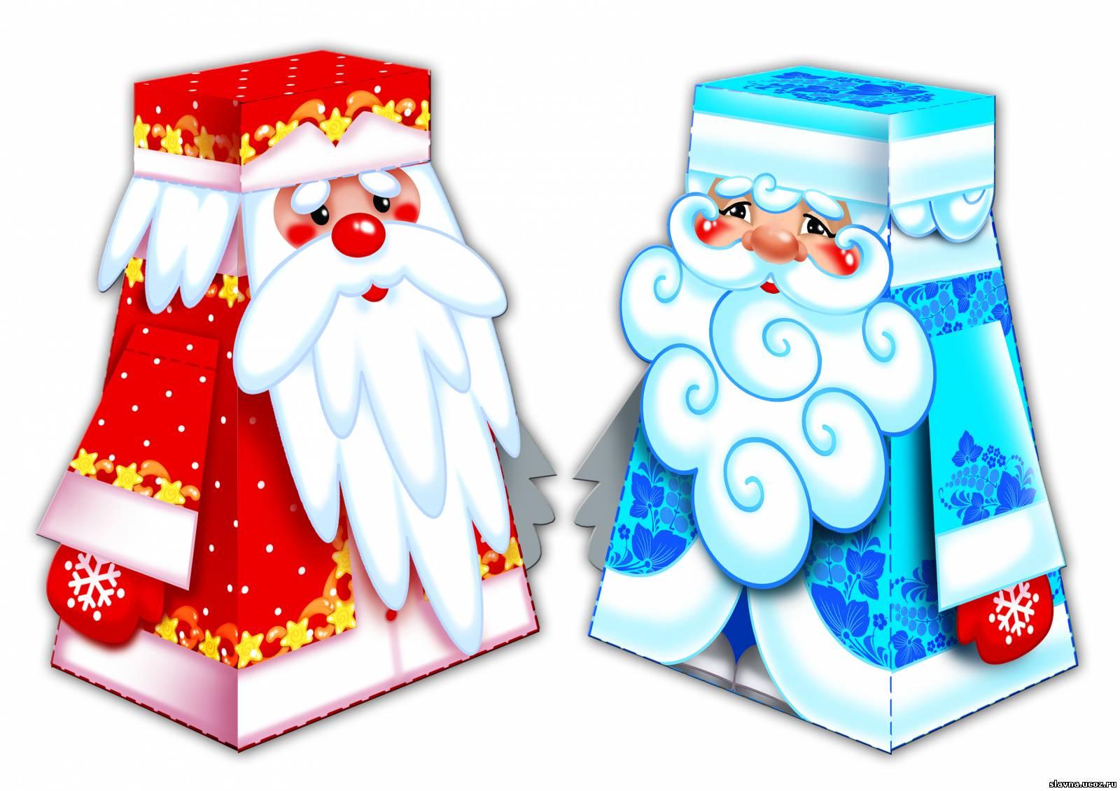 Открытка на новый год дед мороз и снегурочка своими руками